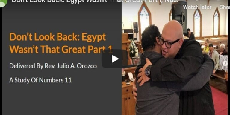 Don't look back egypt wasn't that great part 1 ( numbers 11)