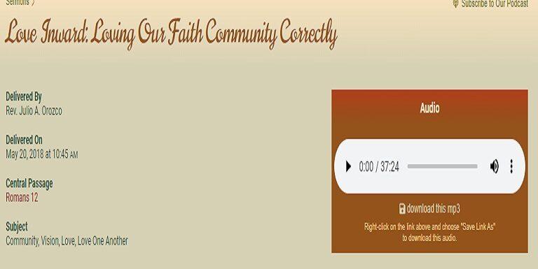 Love Inward Loving Our Faith Community Correctly